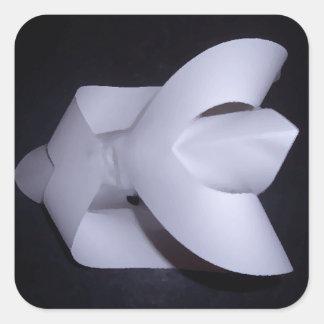 El empollón juega el arte y el diseño de 4 pegatina cuadrada