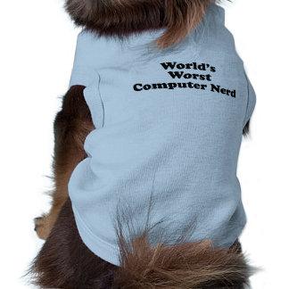 El empollón peor del ordenador del mundo camisetas de perrito