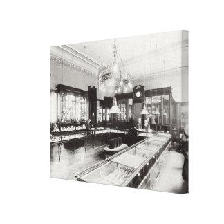 El emporio de Faberge (foto de b/w) Lona Envuelta Para Galerías