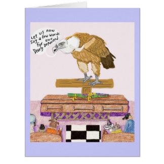El empresario de pompas fúnebres y el entierro tarjeta