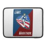 El empuje americano del corredor de maratón limita funda macbook pro