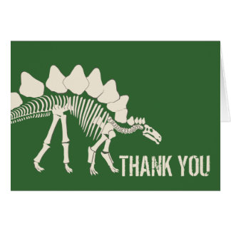 El empuje del dinosaurio le agradece tarjeta pequeña