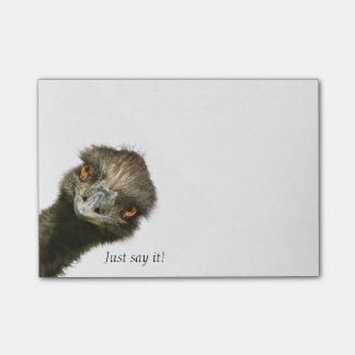 El Emu apenas lo dice Notas Post-it®