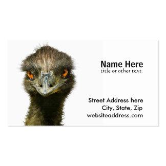 El Emu ve Tarjetas De Visita