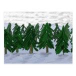 El en de la fiesta de Árboles del día de nieve Tarjeta Postal