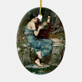 El encantador - ornamento adorno ovalado de cerámica