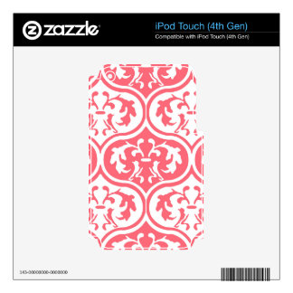 El encantar justo de pie amistoso iPod touch 4G calcomanía