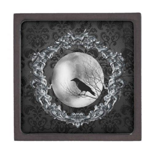 El encanto del cuervo cajas de recuerdo de calidad