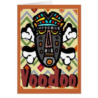 El encanto del vudú, mantiene el gas del estómago tarjeta de felicitación