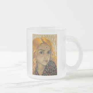 El encanto taza de café esmerilada