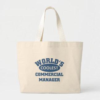 El encargado comercial más fresco bolsa tela grande