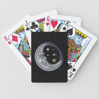 El encargado de la luna, ojos del universo baraja de cartas