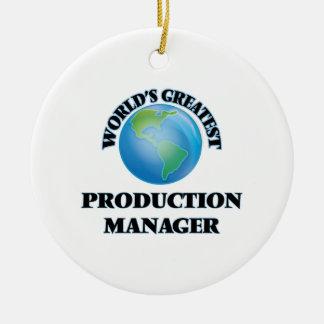 El encargado de la producción más grande del mundo ornato