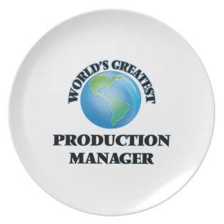 El encargado de la producción más grande del mundo platos de comidas