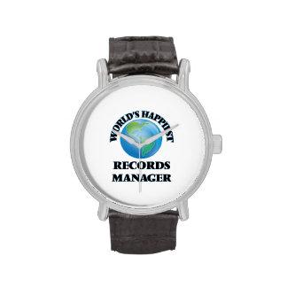 El encargado de los expedientes más feliz del relojes de pulsera
