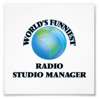 El encargado de radio más divertido del estudio impresiones fotograficas