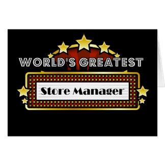 El encargado de tienda más grande del mundo tarjeta de felicitación