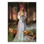 El encargado del bosque tarjeta de felicitación