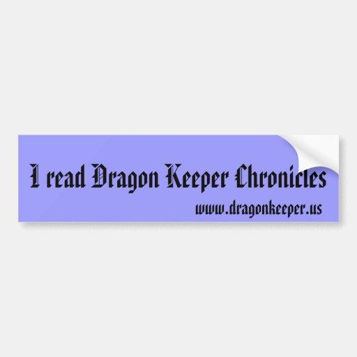 El encargado del dragón crónica a la pegatina para etiqueta de parachoque