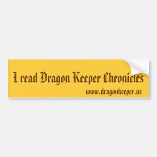 El encargado del dragón crónica a la pegatina para pegatina para auto