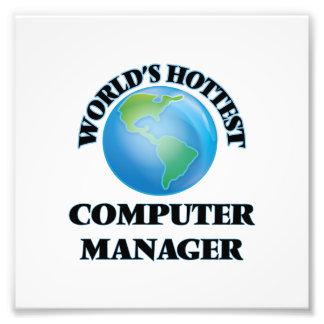 El encargado del ordenador más caliente del mundo fotografías