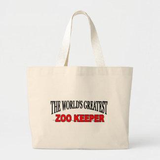 El encargado del parque zoológico más grande del m bolsa tela grande
