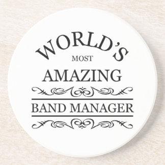El encargado más asombroso de la banda del mundo posavasos personalizados