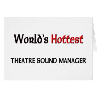 El encargado más caliente del sonido del teatro de tarjeta