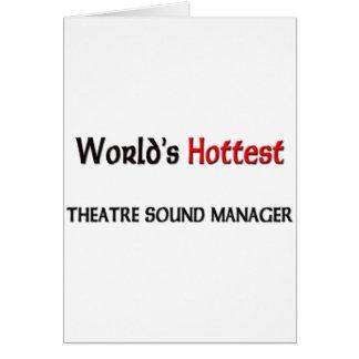 El encargado más caliente del sonido del teatro de felicitaciones