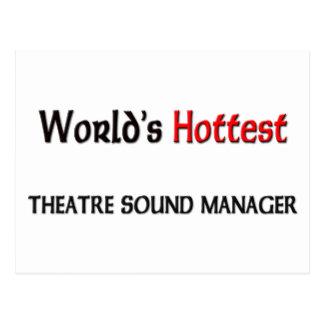 El encargado más caliente del sonido del teatro postal