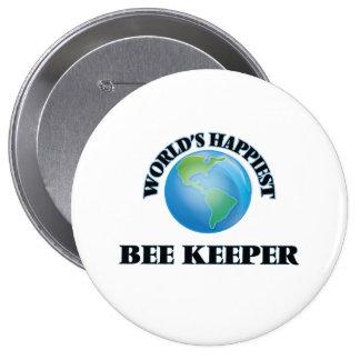 El encargado más feliz de la abeja del mundo pin redondo 10 cm