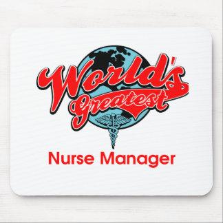 El encargado más grande de la enfermera del mundo mousepad