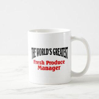 El encargado más grande de la producción taza básica blanca