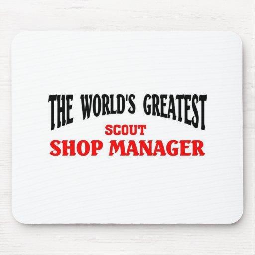 El encargado más grande de la tienda del explorado tapetes de raton