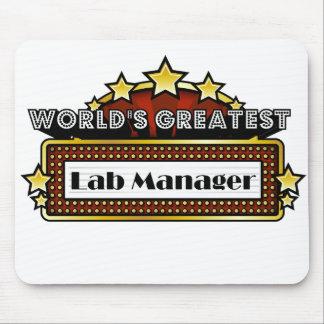 El encargado más grande del laboratorio del mundo alfombrilla de ratón