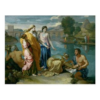 El encontrar de Moses, 1638 Tarjeta Postal