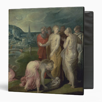 El encontrar de Moses (aceite en lona)