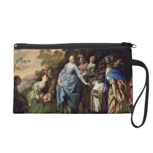 El encontrar de Moses, c.1650-56 (aceite en lona)