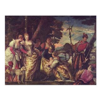 El encontrar de Moses de Paolo Veronese Tarjetas Postales