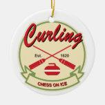 El encresparse: ajedrez en el hielo ornamento para arbol de navidad