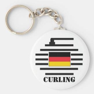 El encresparse de Alemania Llavero Redondo Tipo Pin