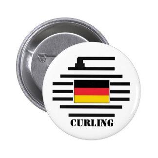 El encresparse de Alemania Pin Redondo De 2 Pulgadas