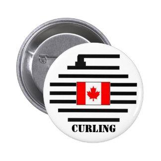 El encresparse de Canadá Pin Redondo De 2 Pulgadas