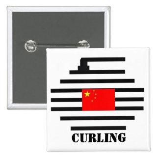 El encresparse de China Pin Cuadrado