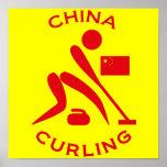 El encresparse de China Poster