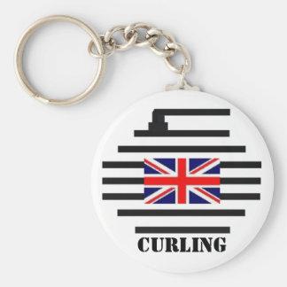 El encresparse de Gran Bretaña Llavero Redondo Tipo Pin