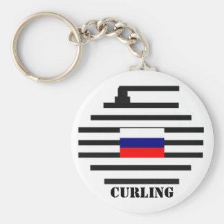 El encresparse de la Federación Rusa Llavero Redondo Tipo Pin