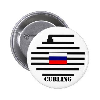 El encresparse de la Federación Rusa Pin Redondo 5 Cm