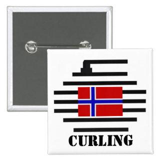 El encresparse de Noruega Pin Cuadrado