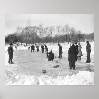 El encresparse en la impresión del Central Park NY Póster